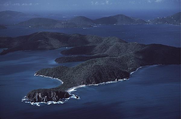 St.john Photograph - An Aerial Of Saint John Island by Ira Block