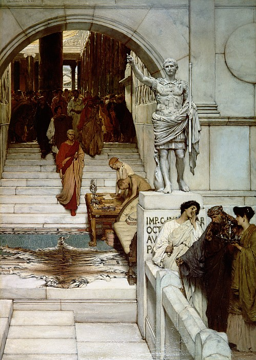 Audience Painting - An Audience At Agrippas by Sir Lawrence Alma-Tadema
