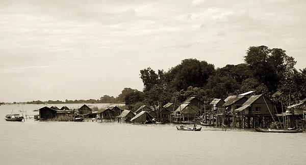 Burma Photograph - An Island Village On River Irrawaddy by RicardMN Photography