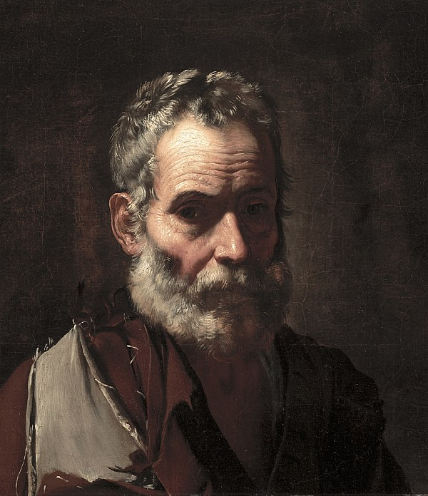 Old Painting - An Old Man by Jusepe de Ribera