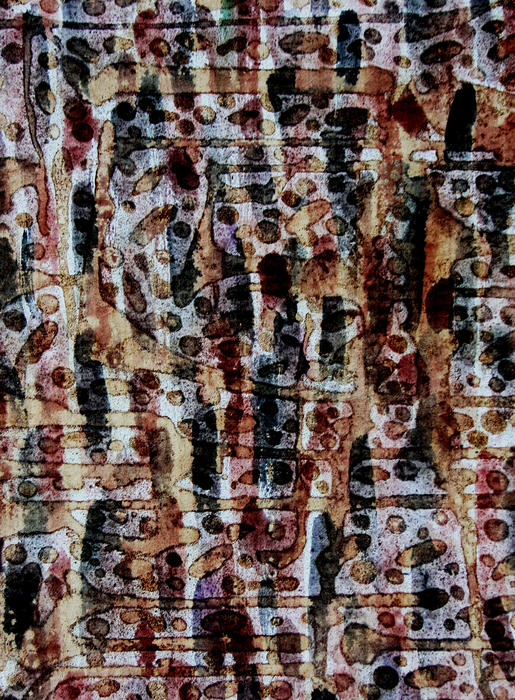 Abstract Painting - Ancient Etch by TB Schenck