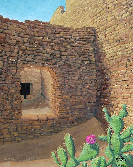 Chaco Painting - Ancient Flower by Michael Cranford