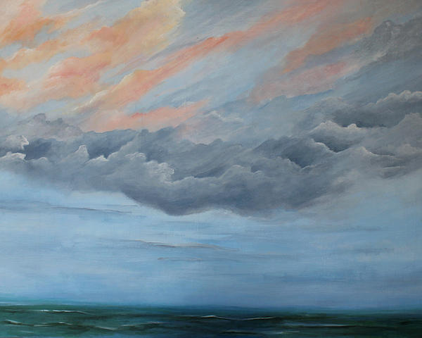 Seascape Painting - And Then It Rained by Rosie Brown
