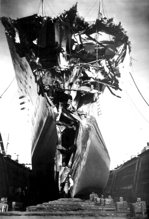 1950s Photograph - Andrea Doria Disaster. This Head-on by Everett
