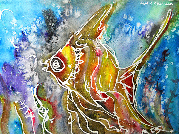 Angel Fish Mixed Media - Angel Fish by M C Sturman