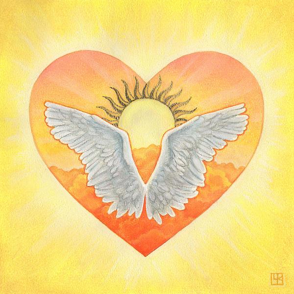 Heart Mixed Media - Angel by Lisa Kretchman