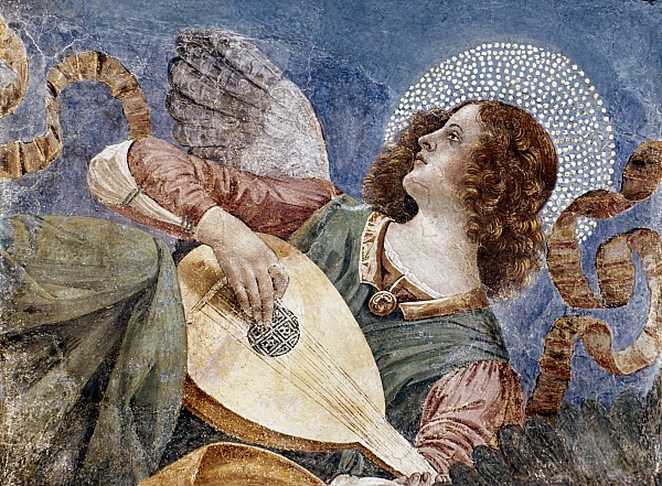 1481 Photograph - Angel With A Lute by Granger