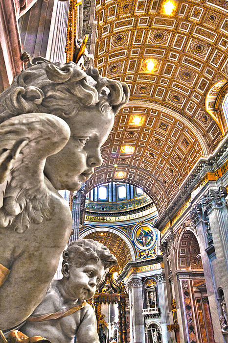 Italy Photograph - Angels At The Vatican by Michael Yeager