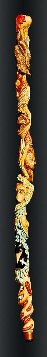 Willow Relief - Animal Staff by Ted Hayes