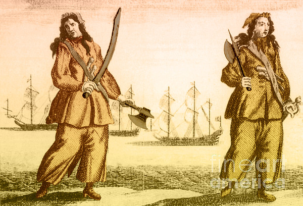 History Photograph - Anne Bonny And Mary Read, 18th Century by Photo Researchers