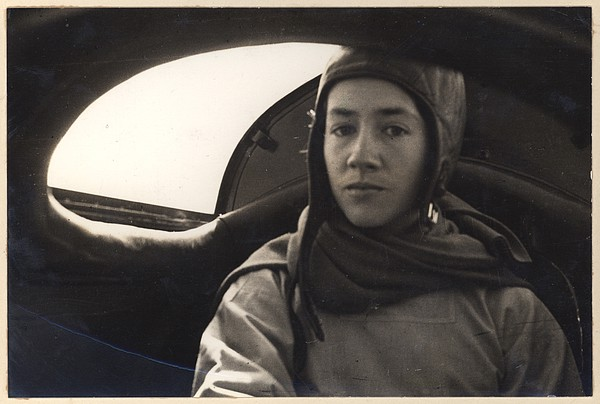 Photograph - Anne Morrow Lindbergh Inside The Rear by Everett