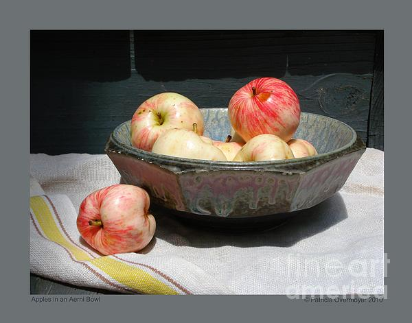 Apples Photograph - Apples In An Aerni Bowl by Patricia Overmoyer
