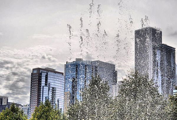 Chicago Photograph - Aqua Chicago  by Emily Stauring