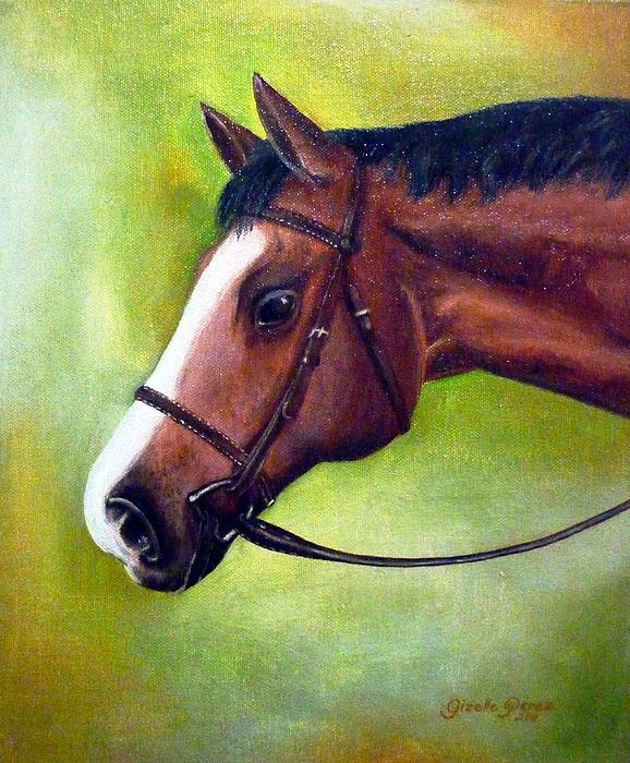 Horse Painting - Arabian Horse by Gizelle Perez