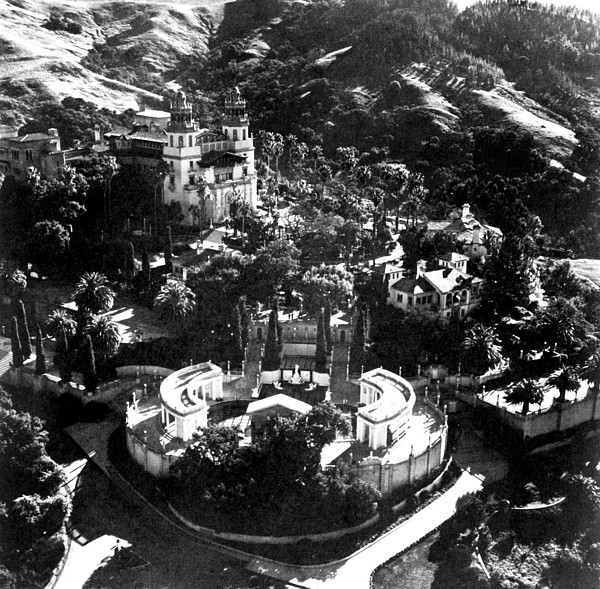 Hearst Castle Photograph - Arial View Of Hearst Castle, San by Everett