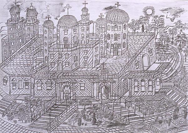Drawing Drawing - Armenian Church by Yuriy Mkhitaryants