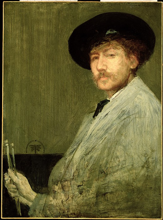 Arrangement Photograph - Arrangement In Grey - Portrait Of The Painter by James Abbott McNeill Whistler