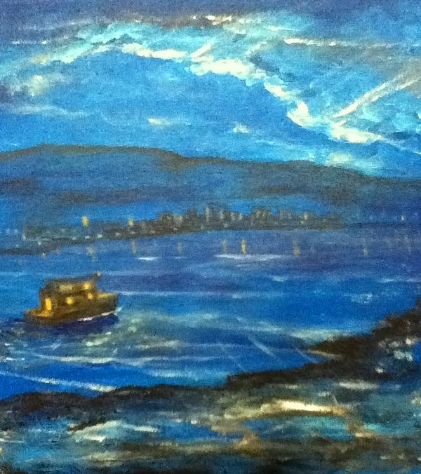 Sea Painting - Arrived by Richard  Hubal