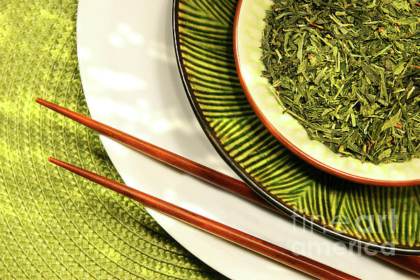 Asia Photograph - Asian Bowls Filled With Herbs by Sandra Cunningham