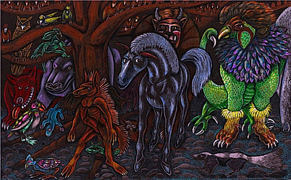 Magic Drawing - Asil At The Forest Lords Midnight Gathering In Shitaki by Al Goldfarb
