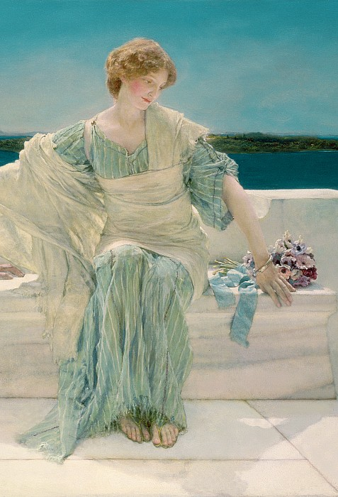 Ask Painting - Ask Me No More by Sir Lawrence Alma-Tadema