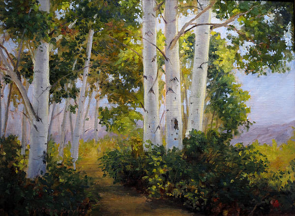 Aspen Grove Painting by Victoria  Broyles