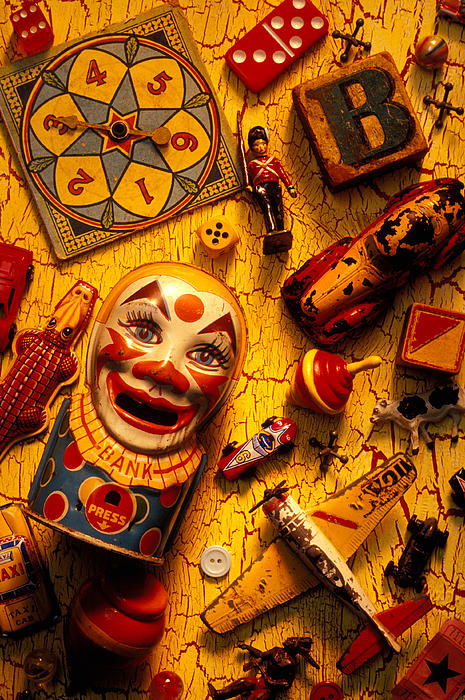 Toy Photograph - Assorted Old Toys by Garry Gay