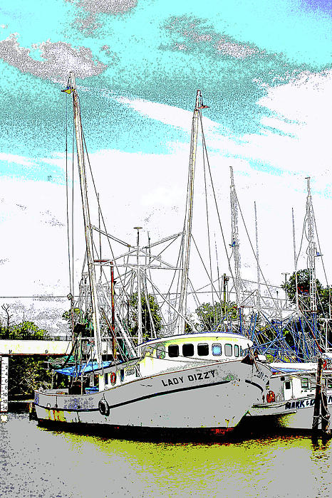 Shrimp Boat Photograph - At The Dock by Barry Jones