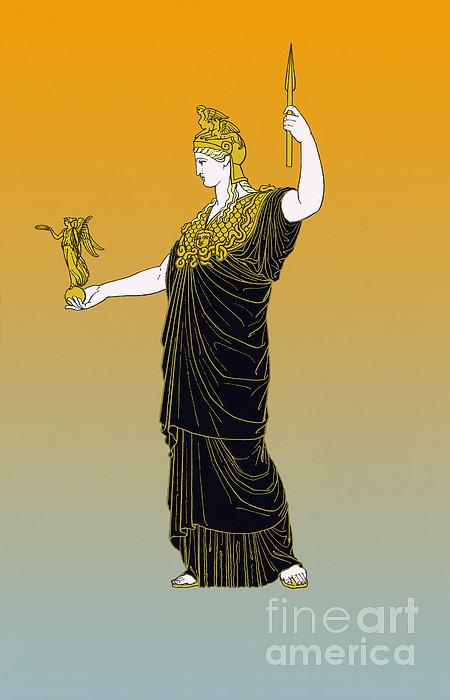 History Photograph - Athena, Greek Goddess by Photo Researchers