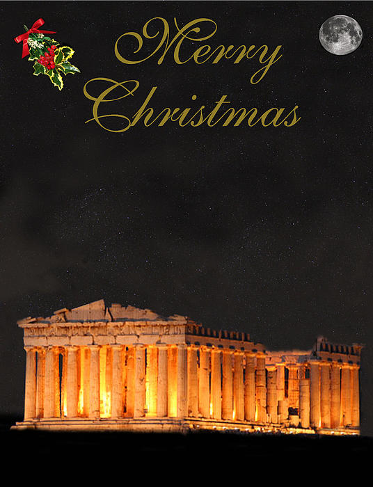 Athens Mixed Media - Athens Merry Christmas by Eric Kempson