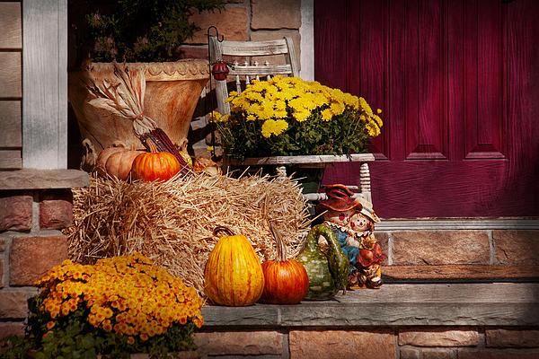 Pumpkins Photograph - Autumn - Gourd - Autumn Preparations by Mike Savad
