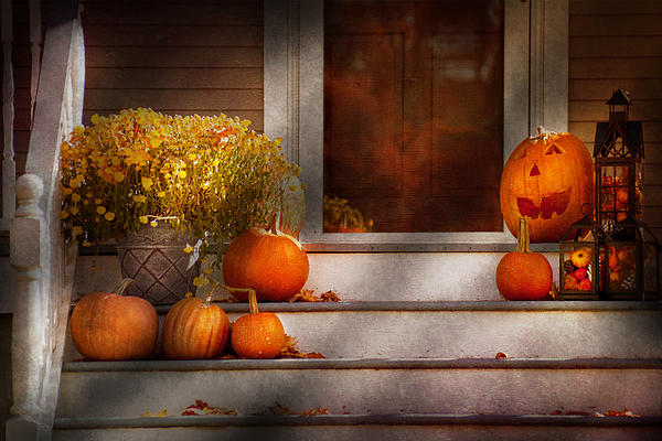 Autumn Photograph - Autumn - Halloween - Were All Happy To See You by Mike Savad