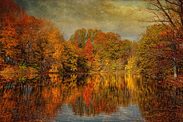 Autumn Photograph - Autumn - Landscape - Tamaques Park - Autumn In Westfield Nj  by Mike Savad