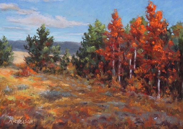 Landscape Pastel - Autumn Glory by Debra Mickelson