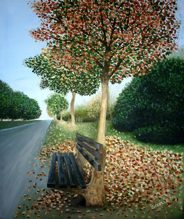 Autumn Painting - Autumn Leaves by Gizelle Perez