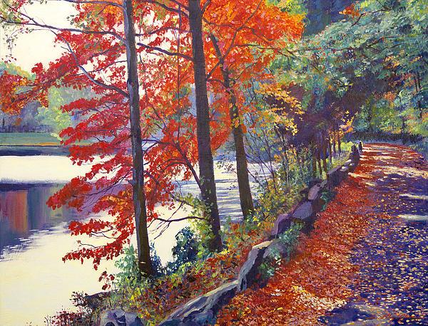 Landscape Painting - Autumn Sonata by David Lloyd Glover