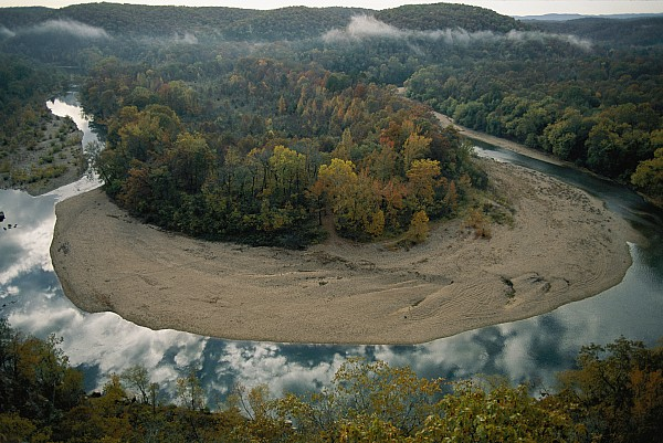 Outdoors Photograph - Autumnal View Of One Of The Loops by Randy Olson