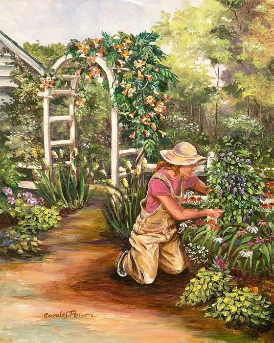 floral painting avid gardener by carole powell