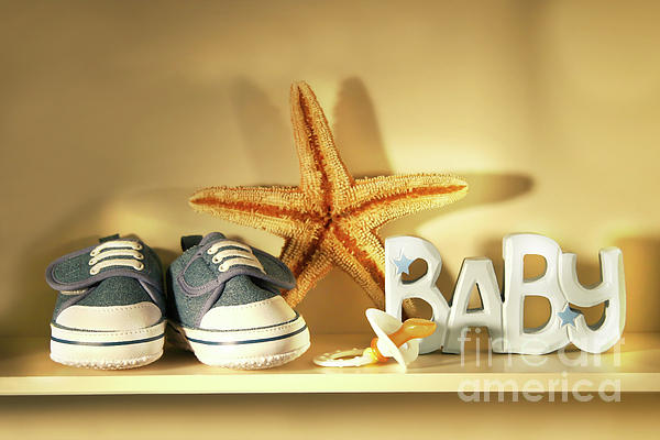 Accessories Photograph - Baby Shoes On The Shelf by Sandra Cunningham