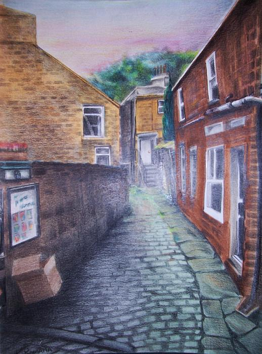 City Painting - Back Alleyway by Kathleen Romana