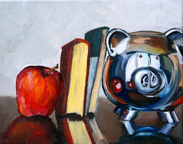 Apple Painting - Back To School by Amy Higgins