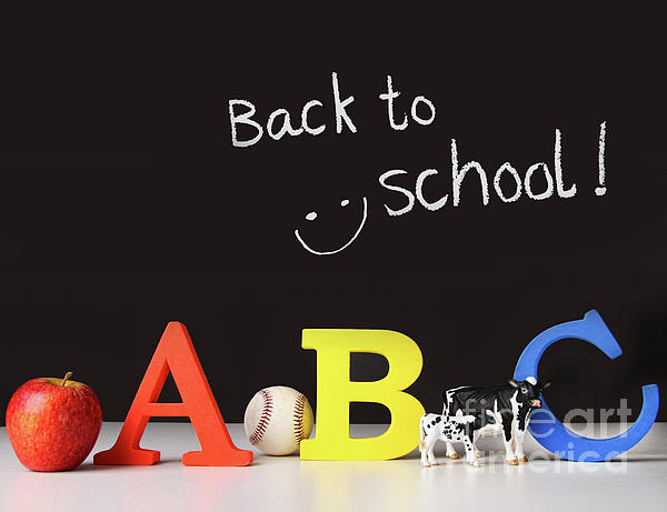 Apple Photograph - Back To School Concept With Abc Letters by Sandra Cunningham