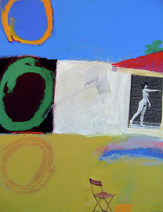 Abstract Painting Painting - Backyard-1 Voyeur  -m-  by Cliff Spohn