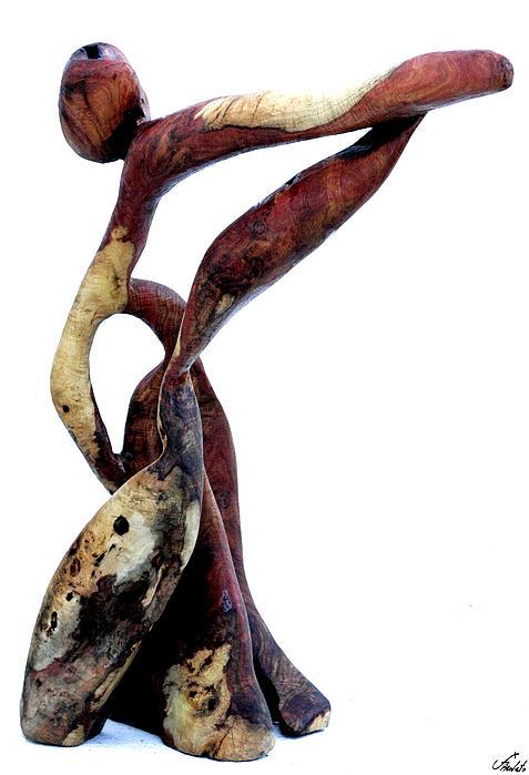 Wood Sculpture Dancing Abstract Berlato Sculpture - Bailando 3 by Jorge Berlato