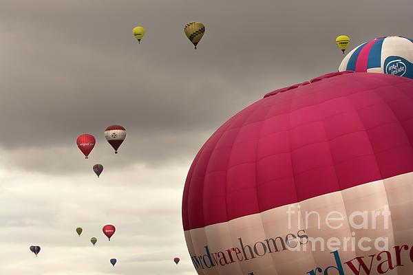 Sky Photograph - Baloons by Angel  Tarantella
