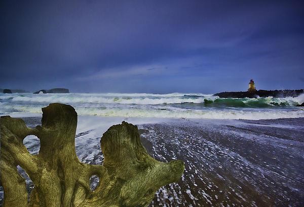 Pacific Ocean Photograph - Bandon Jetty by Dale Stillman