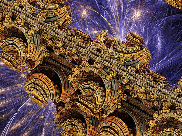 Space Digital Art - Bangkok Palace by Pam Blackstone