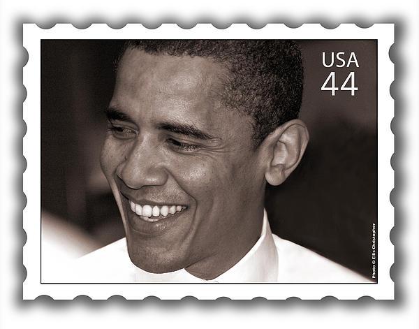 Barack Obama Photograph - Barack Obama Portrait. Photographer Ellis Christopher by Ellis Christopher