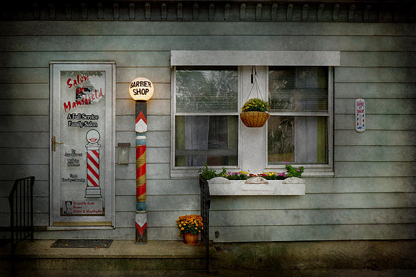 Hdr Photograph - Barber - Belvidere Nj - A Family Salon by Mike Savad