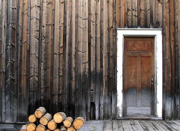 Firewood Photograph - Barkerville Back Porch by Calvin Wray